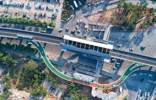 Bicycle Freeway Demonstration Project of Yunding Road, Xiamen City